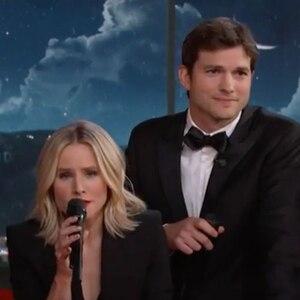 Jimmy Kimmel Live, Kristen Bell, Ashton Kutcher