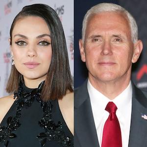 Mila Kunis, Mike Pence
