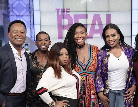 moesha cast has 16 year reunion on the real and brandy gets emotional e news. Black Bedroom Furniture Sets. Home Design Ideas
