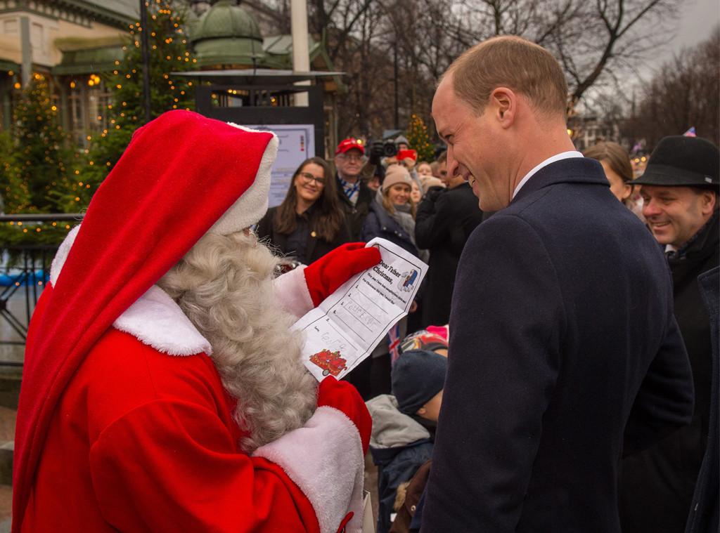 Prince William, Santa Claus