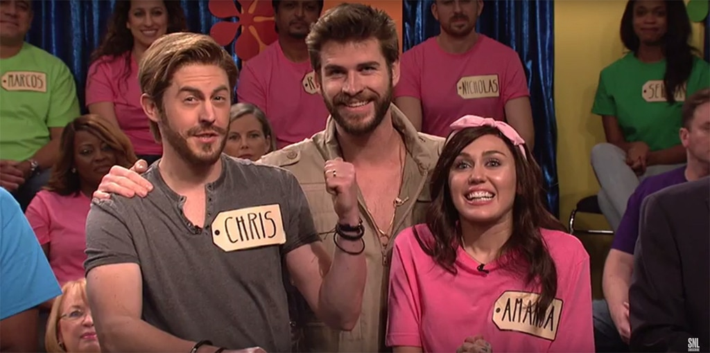 Miley Cyrus, Liam Hemsworth, SNL