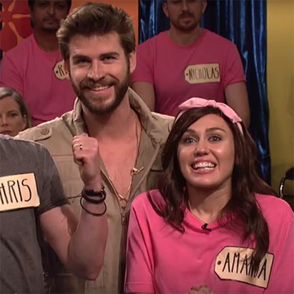 Miley Cyrus, Liam Hemsworth, SNL