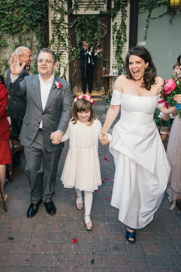 Patton Oswald, Wedding