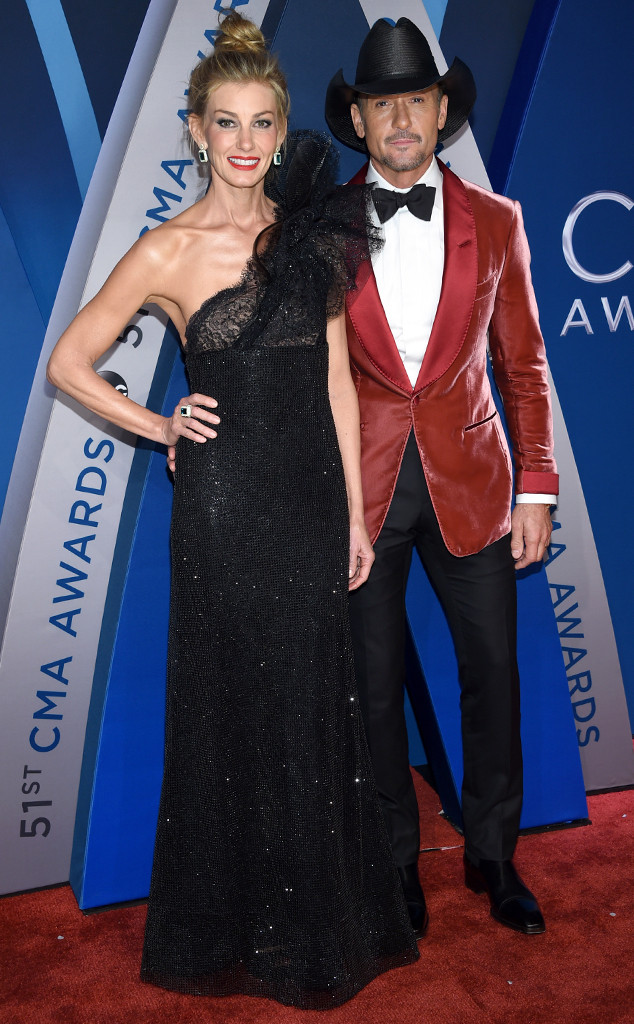 Faith Hill, Tim McGraw, 2017 CMA Awards, Couples