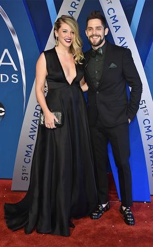Lauren Akins, Thomas Rhett, 2017 CMA Awards, Couples