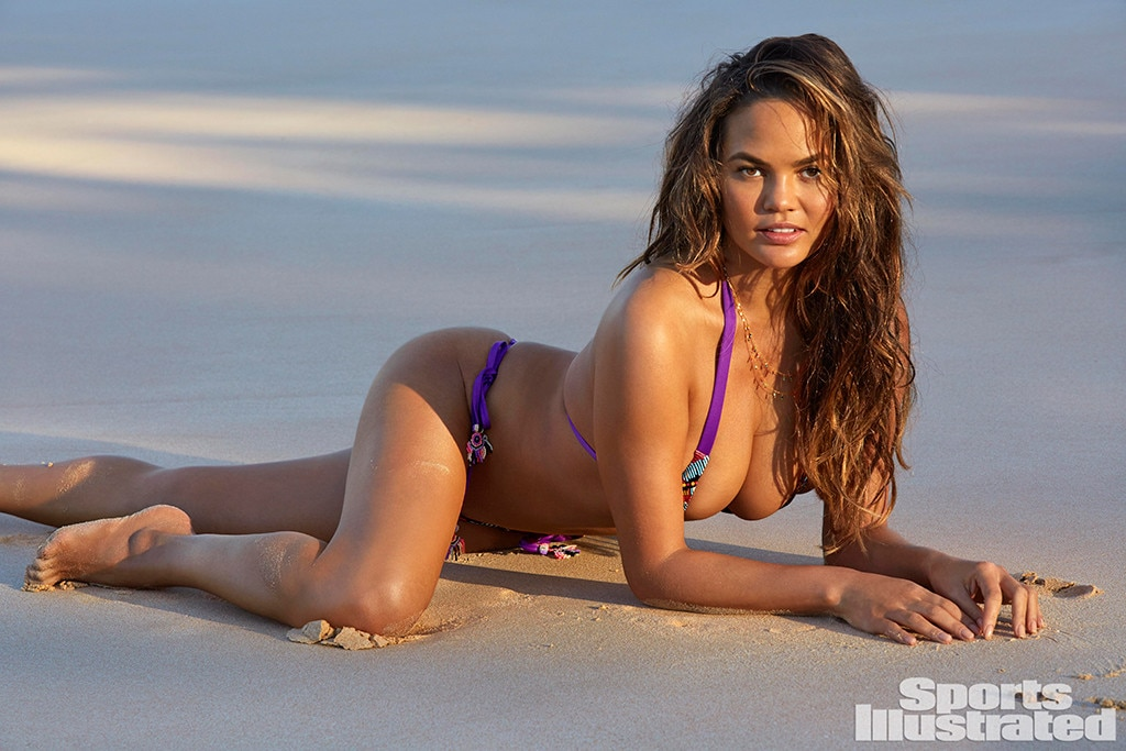 Chrissy Teigen Models For The Sports Illustrated Swimsuit