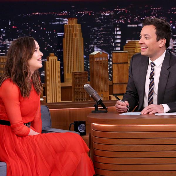 Dakota Johnson, Jimmy Fallon, The Tonight Show