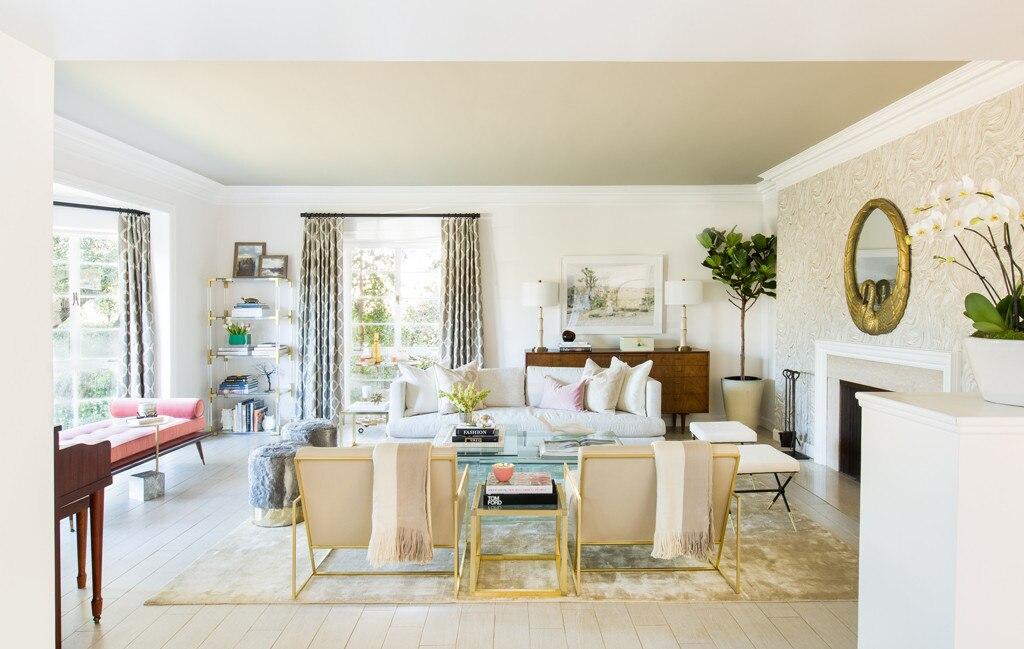 Simply elegant from catt sadler 39 s living room tour e news for Paint living room online
