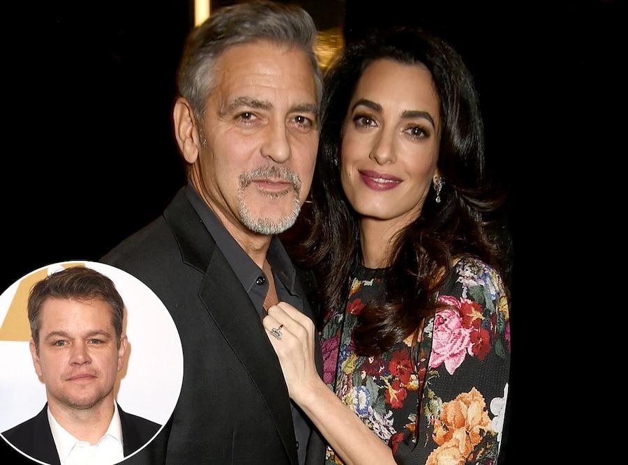 George Clooney, Amal Clooney, Matt Damon