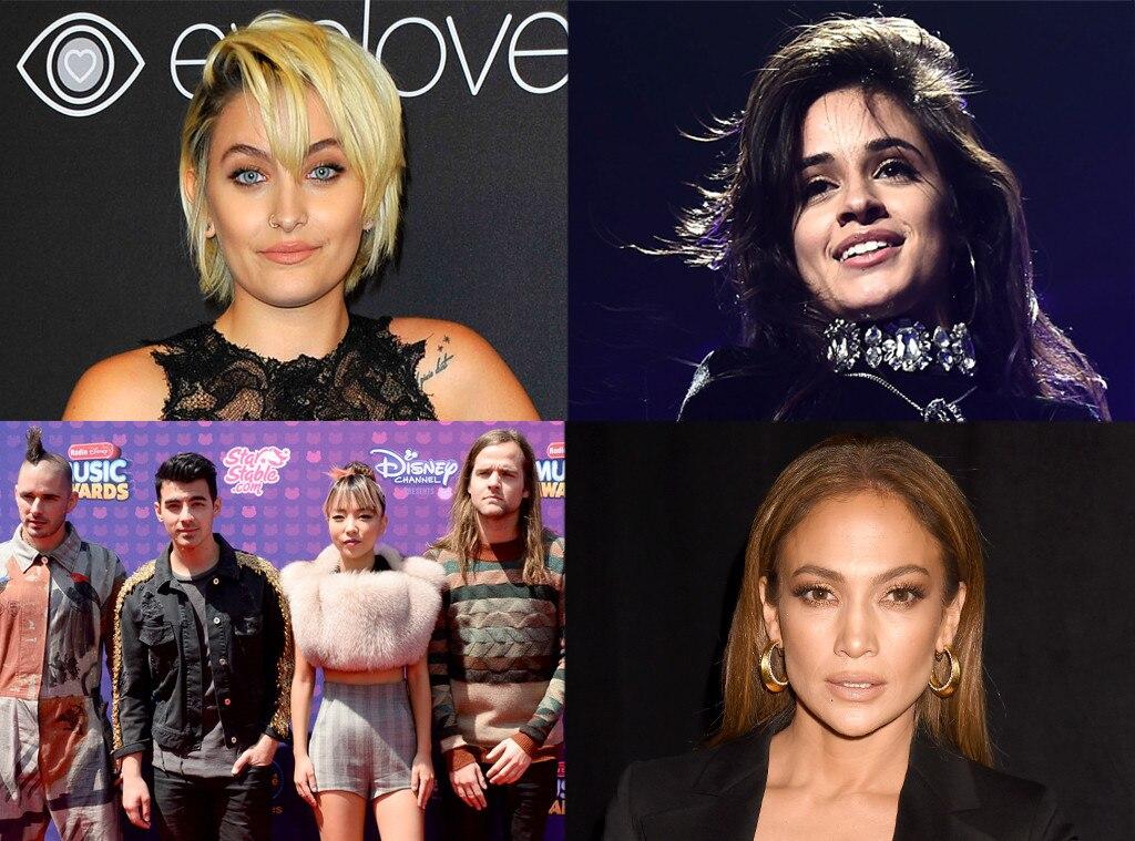 Paris Jackson, Jennifer Lopez, DNCE, Camila Cabello