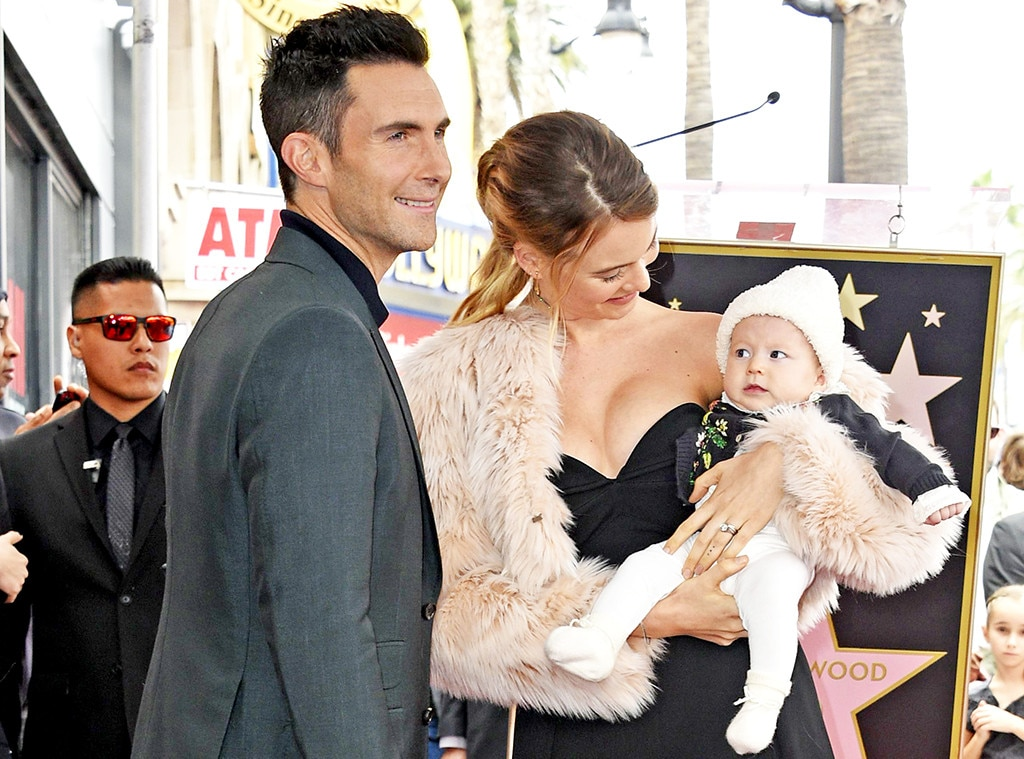 Adam Levine, Behati Prinsloo, Dusty Rose