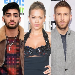 Zayn Malek, Rita Ora, Calvin Harris