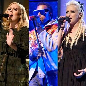 Adele, Kanye, Ashlee Simpson, SNL performances