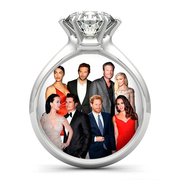 Couples, Prince Harry, Meghan Markle, Bradley Cooper, Irina Shayk, Blake Shelton, Gwen Stefani, Katy Perry, Orlando Bloom