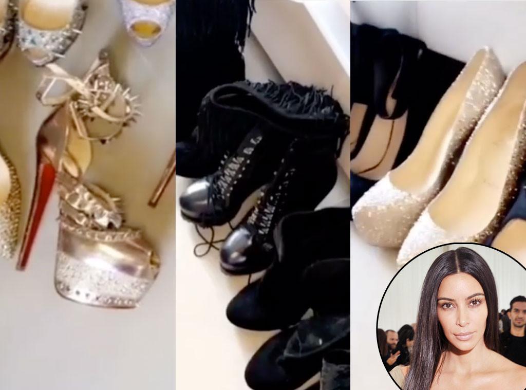 Kim Kardashian Kept Her Old Shoes Despite Kanye Wests Famous