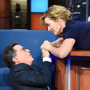 Kate Winslet, Stephen Colbert, The Late Show