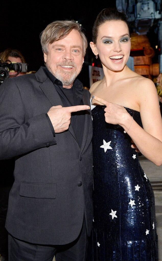 Daisy Ridley, Mark Hamill, Star Wars Premiere, 2017