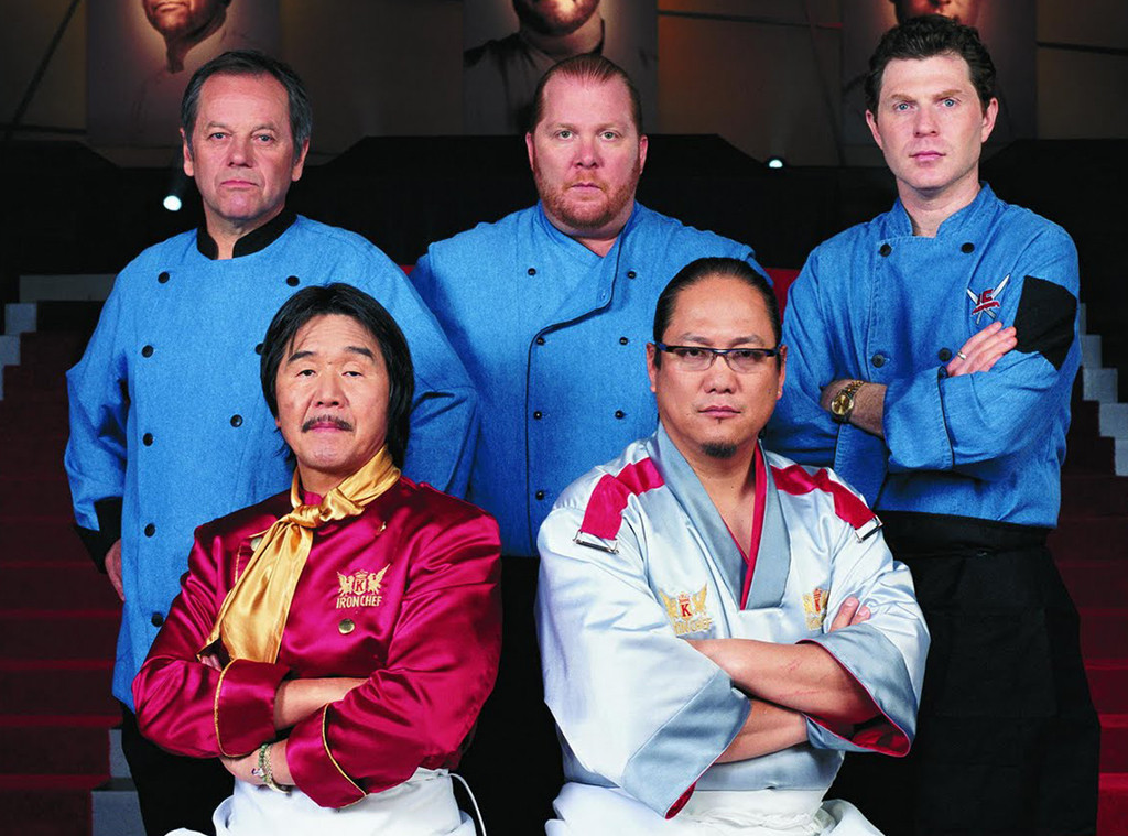 Iron Chef American, Wolfgang Puck, Mario Batali, Bobby Flay, Hiroyuki Sakai, Morimoto