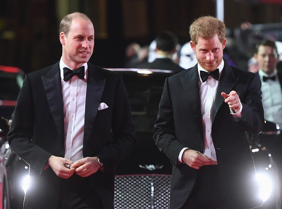 Prince Harry, Prince William, Star Wars Premiere