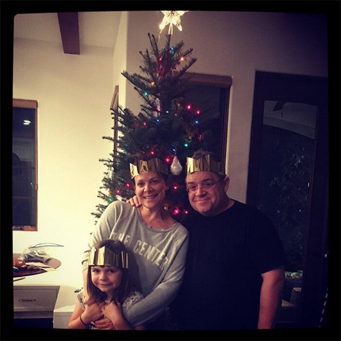 Patton Oswalt, Meredith Salenger, Daughter, Alice, Christmas, Tree, 2017