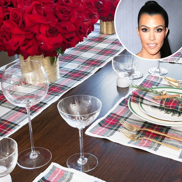 Recreate Kourtney Kardashian's Christmas Table Setting