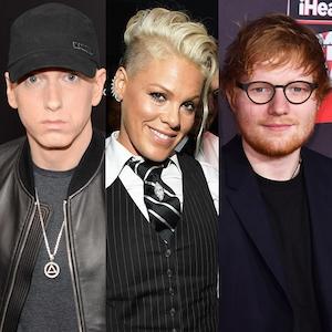 Eminem, Pink, Ed Sheeran