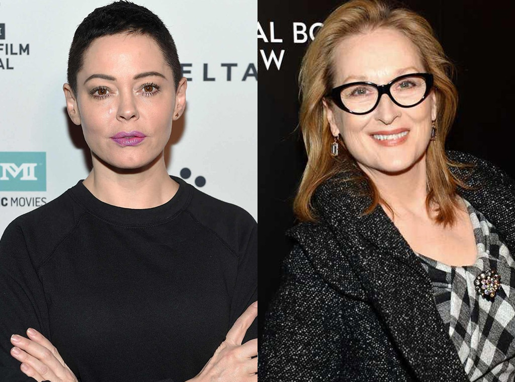 Rose McGowan slams Meryl Streep for taking part in Weinstein protest
