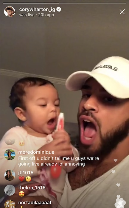 Cory Wharton, Daughter, Ryder, The Challenge, Instagram