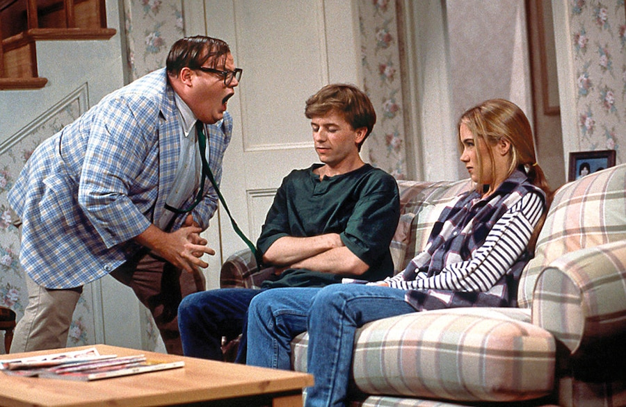 Chris Farley, David Spade, Christina Applegate