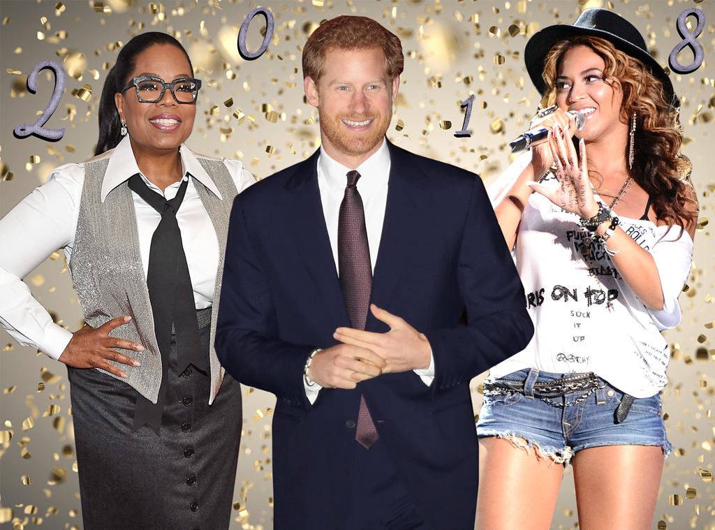 2018, Pop Culture Events, Oprah, Prince Harry, Beyonce
