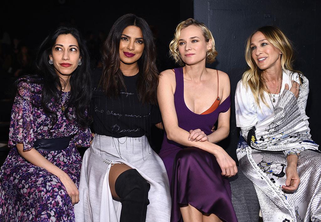 Huma Abedin, Priyanka Chopra, Diane Kruger, Sarah Jessica Parker, 2017 NYFW Star Sightings