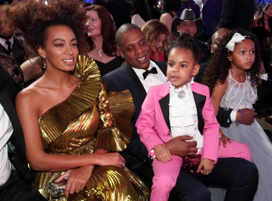 Solange Knowles, Jay Z, Blue Ivy Carter, 2017 Grammys, Candids