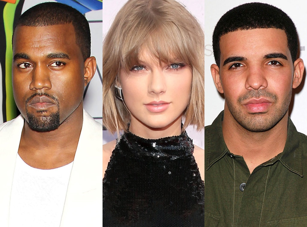 Kanye West, Taylor Swift, Drake