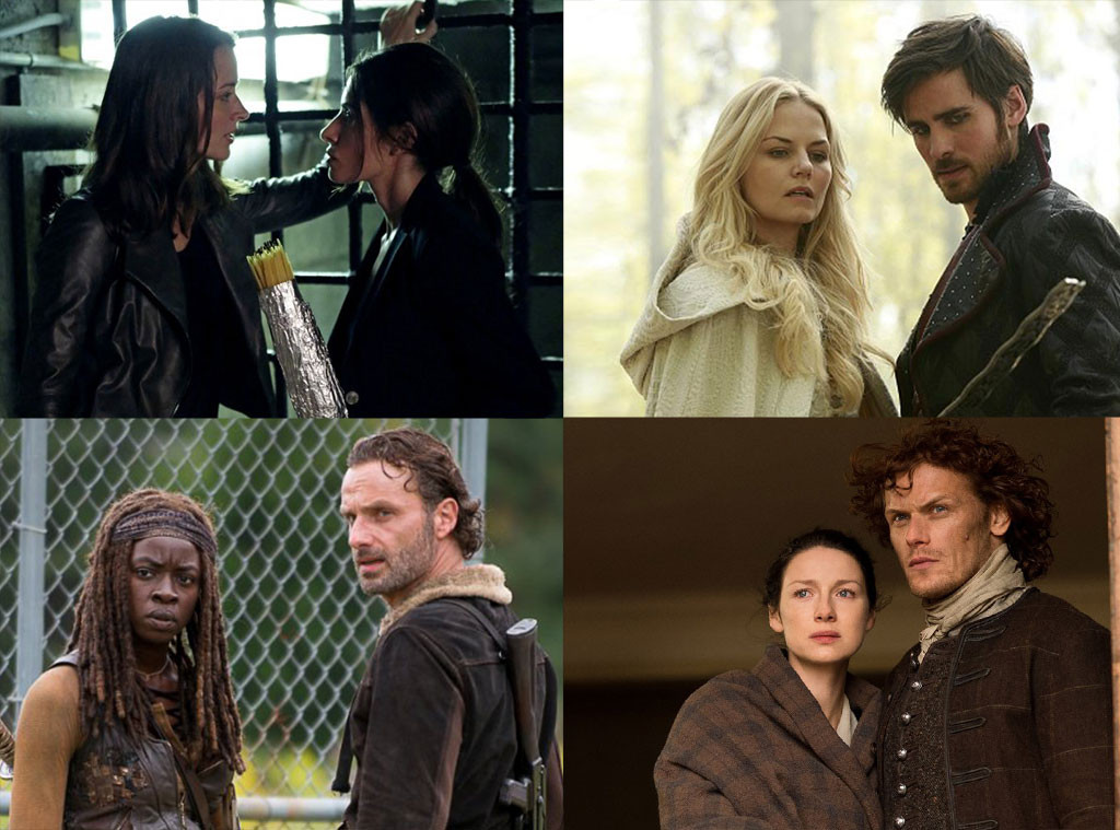 Top Couples, Outlander, Once Upon A Time, Walking Dead, Person Of Interest