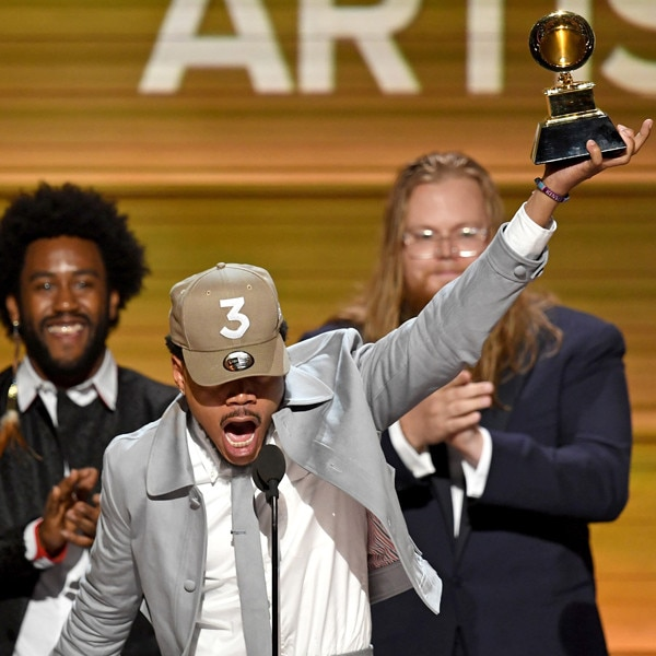 Chance The Rapper makes grammy history, earns 'Best New Artist' award class=