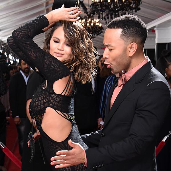 Chrissy Teigen, John Legend, 2017 Grammys, Candids
