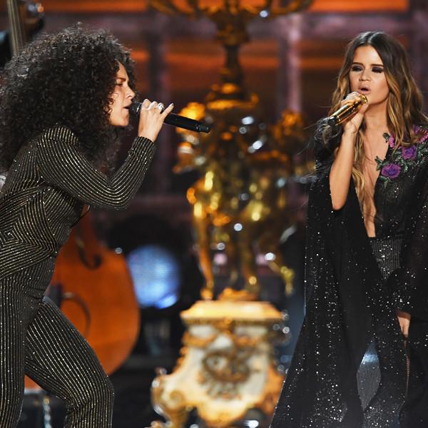 Alicia Keys, Maren Morris, 2017 Grammys, Show, Performance