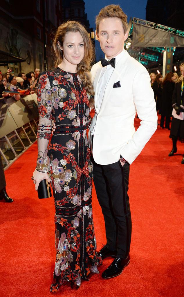 Hannah Bagshawe, Eddie Redmayne, 2017 BAFTA Awards