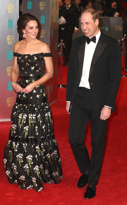 Prince William, Kate Middleton, 2017 BAFTA Awards