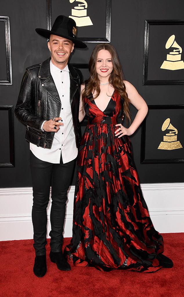 Jesse Huerta, Joy Huerta, 2017 Grammys, Couples