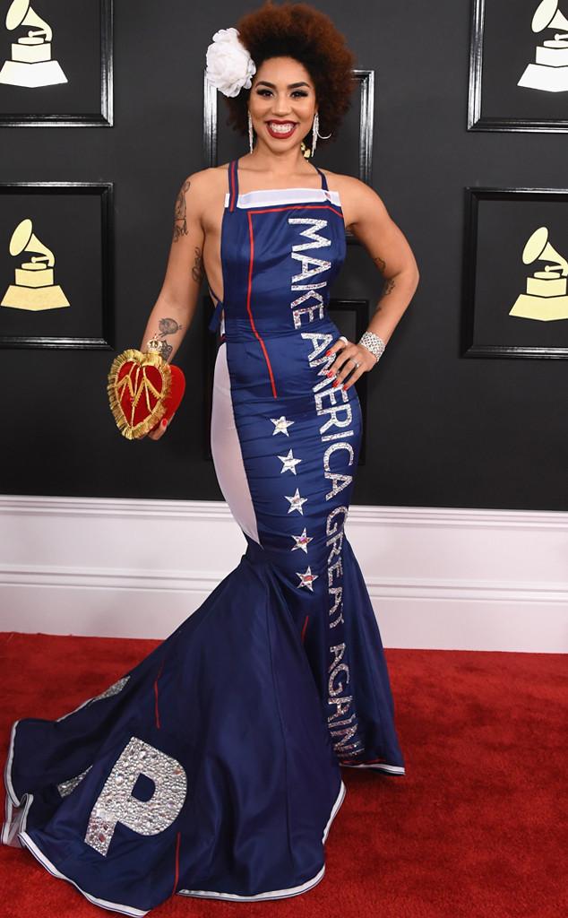 Joy Villa from Grammys 2017 Red Carpet Arrivals   E! News