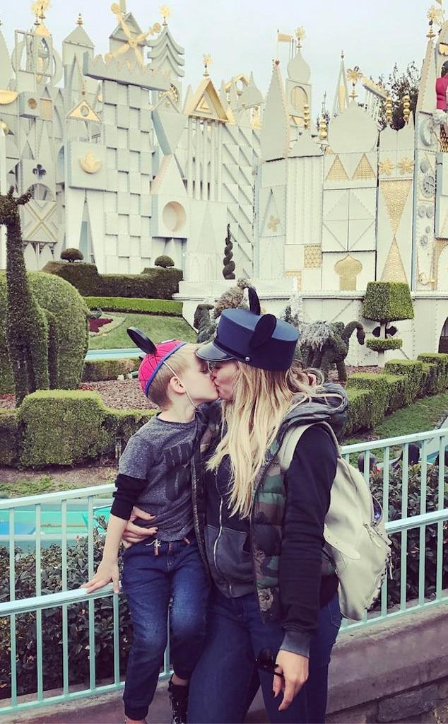 Hilary Duff, Luca, Disneyland, Instagram
