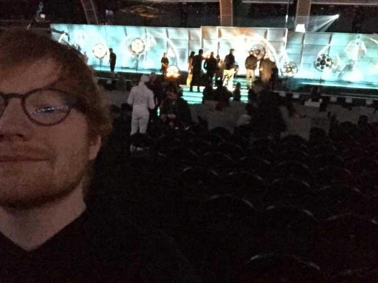 Ed Sheeran, Grammys Instagram