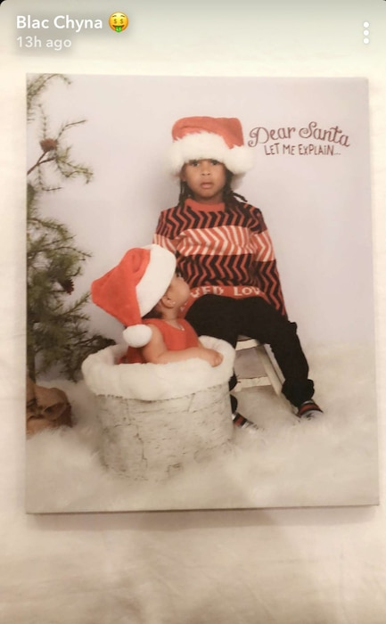 Dream Kardashian, King, Blac Chyna, Christmas Card