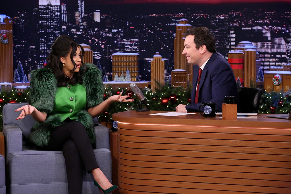 Cardi B Charms Jimmy Fallon During Her Hilarious 'Tonight Show' Appearance