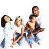 Kardashian Christmas Card Day 21, Kim Kardashian, Kanye West, North West, Saint West