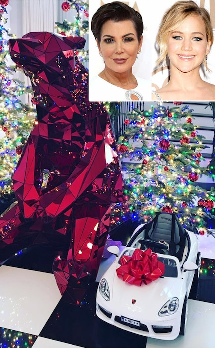 Kris Jenner, Jennifer Lawrence, Christmas, Instagram