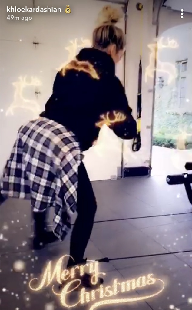Khloe Kardashian, Baby Bump, Pregnant, Working Out