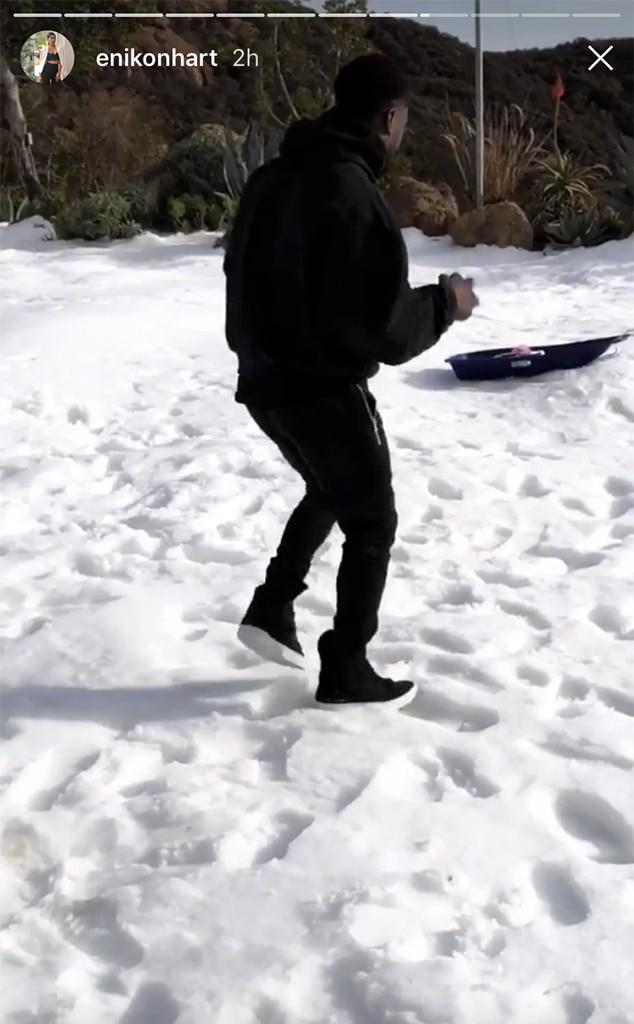 Kevin Hart, Snow, Malibu, Family, Christmas 2017
