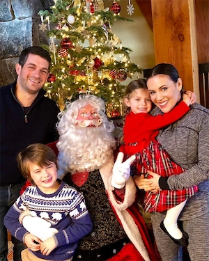 Alyssa Milano, Husband, Dave Bugliari, Daughter, Elizabella, Son, Milo, Christmas 2017, Santa
